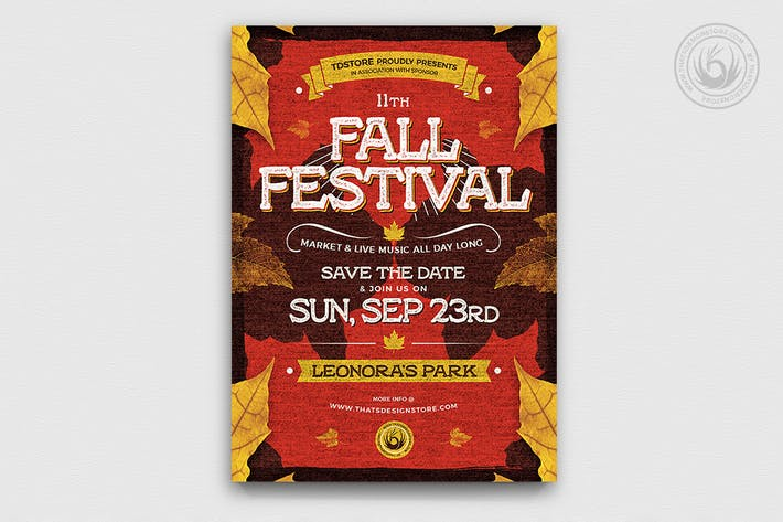 Thumbnail for Fall Festival Flyer Template V2