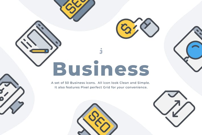 Thumbnail for 50 Business and Seo icon set