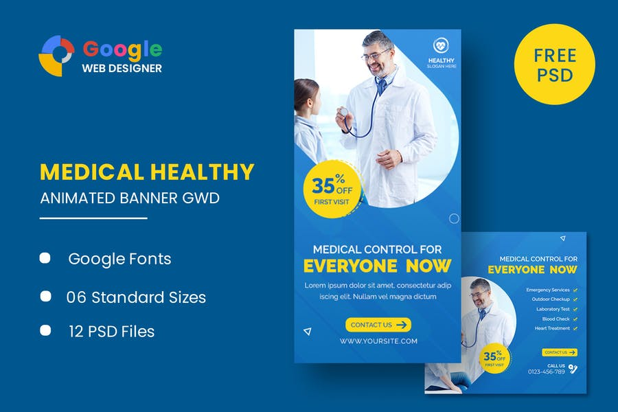 Medical Healthy Care Animated Banner GWD