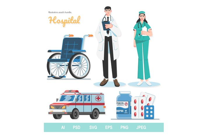 Hospital - Illustrations