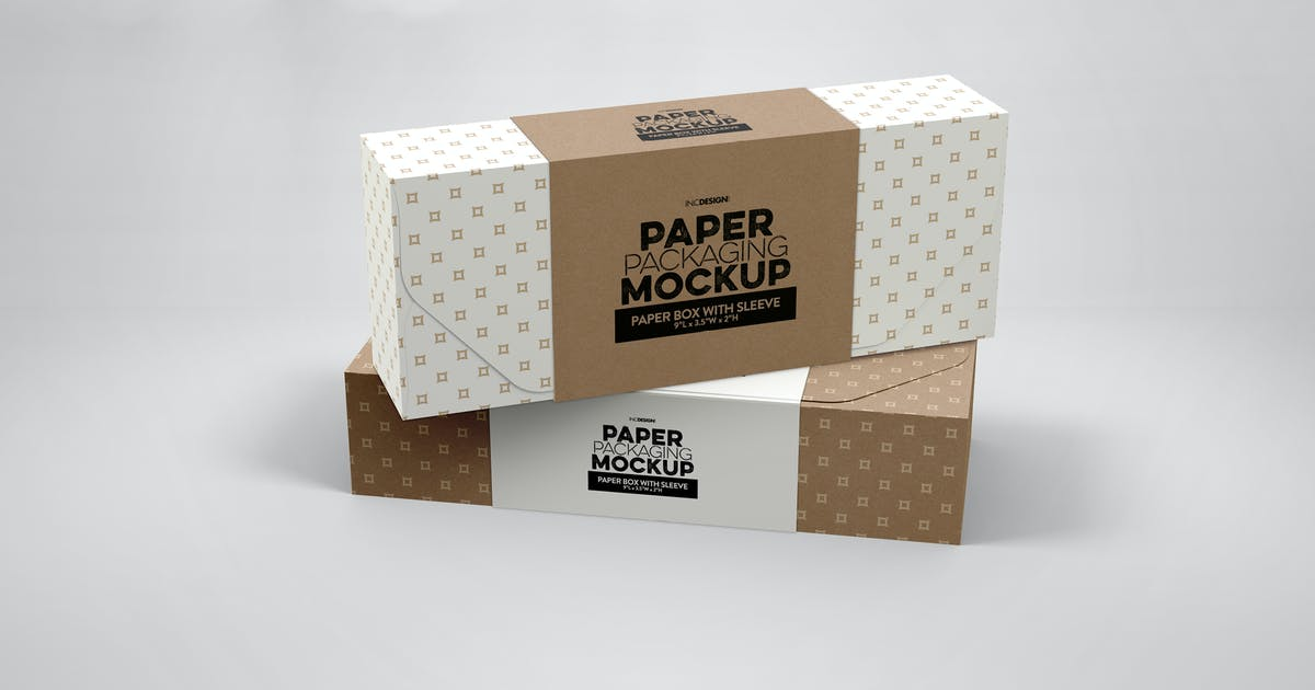 Download Paper Boxes with Sleeve Mockup by ina717
