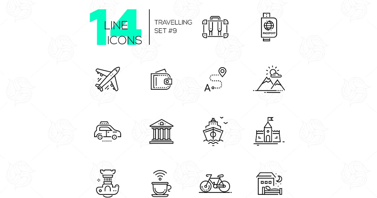 Traveling - line icons set by Unknow