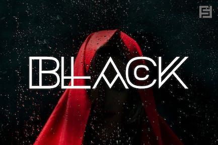 BLACK - Unique, Mysterious & Hybrid Typeface