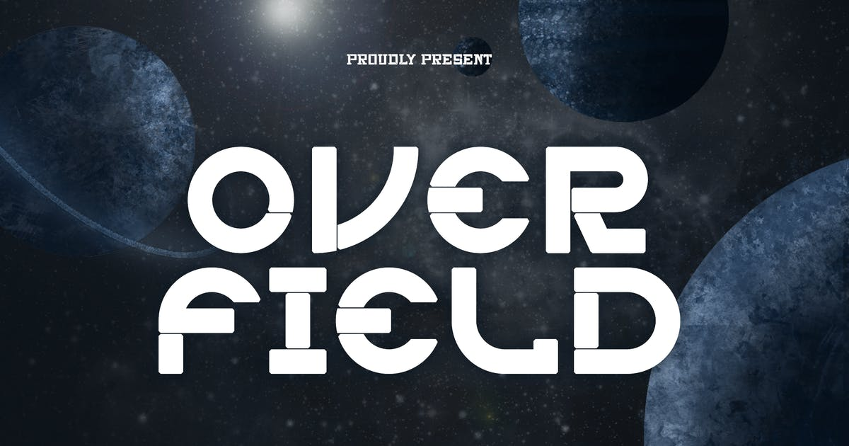 Download Overfield - Futuristic gaming font by tokopress