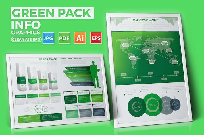 Thumbnail for Green Pack Infografiken Design