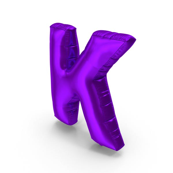 Thumbnail for Foil Balloon Letter K Purple