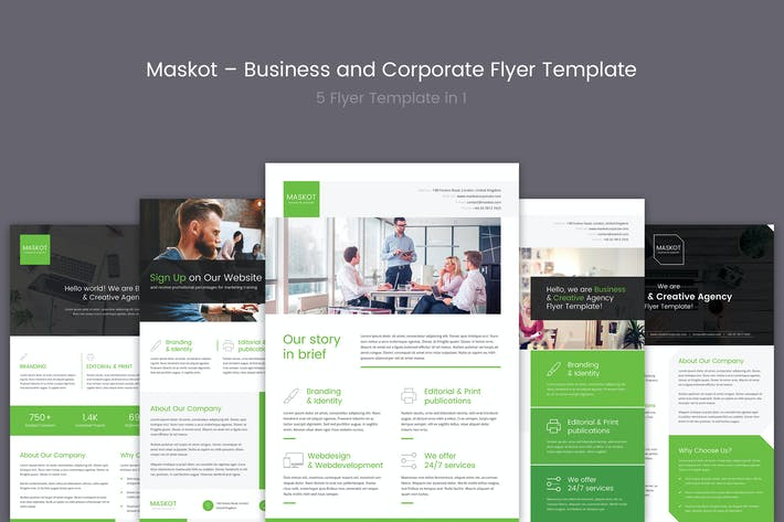 Thumbnail for Maskot – Business and Corporate Flyer Template
