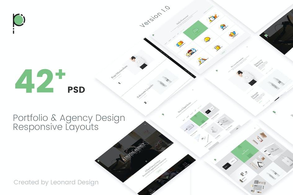 Download Poseidon   Creative Portfolio - Agency PSD Templat by Leonard_Design