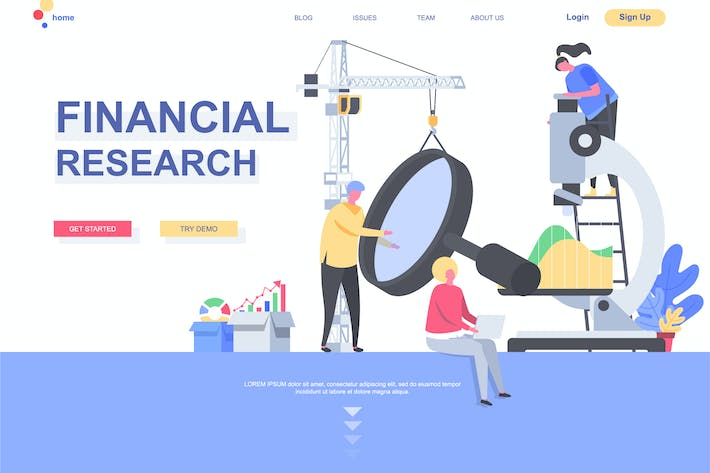 Financial Research Landing Page Template