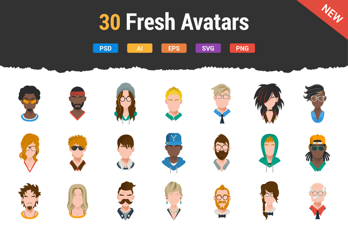 Thumbnail for 30 Fresh & Modern Avatars