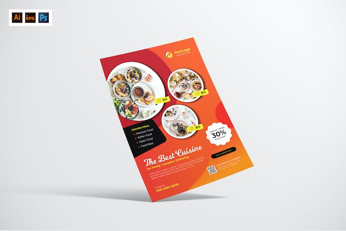Cover Image For Food Restaurant Flyer Design