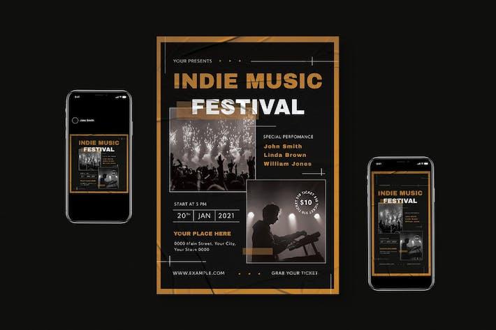 Thumbnail for Indie Music Festival Flyer Set