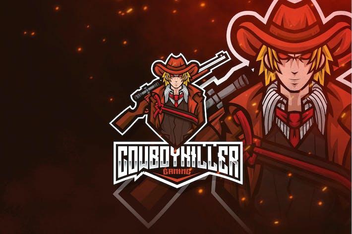 Thumbnail for Cowboy Killer Esport Logo Template