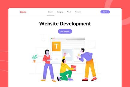 Ilustración de desarrollo de sitios