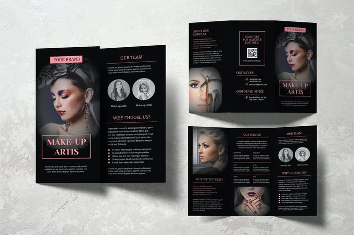 Cover Image For Make Up Artist Trifold Brochure