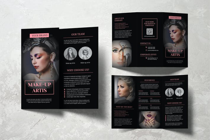 Thumbnail for Make Up Artist Trifold Brochure