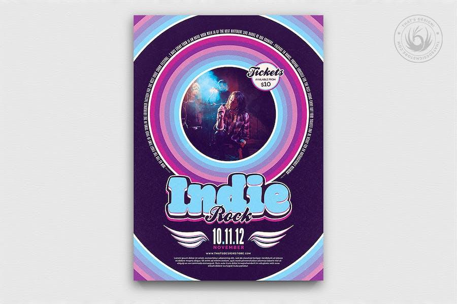 Indie Rock Flyer Template V5