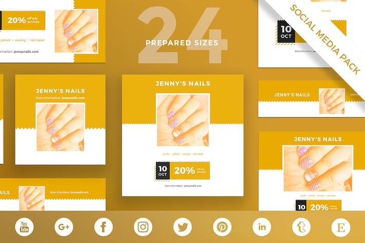 Nail Salon Social Media Pack Template