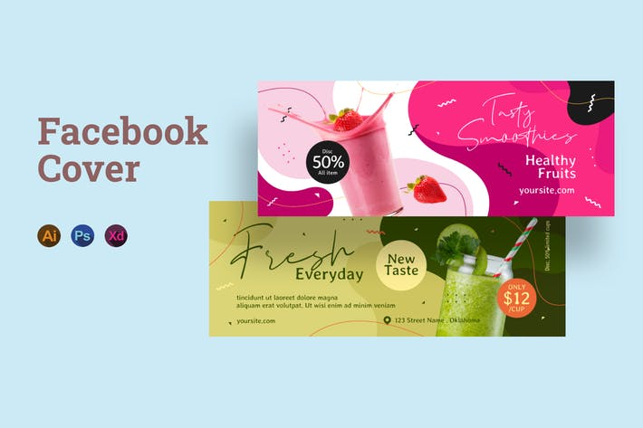 Smoothie Facebook Cover-Vorlage