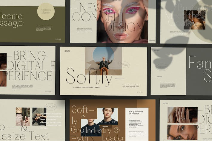 Thumbnail for Softly - Lookbook Style Design Powerpoint