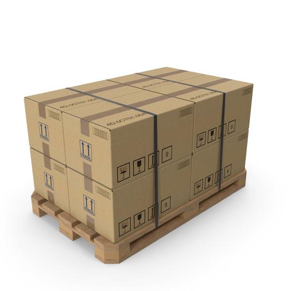 Картонная коробка поддон