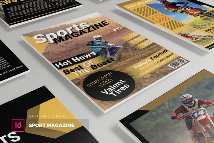 Thumbnail for Sport | Magazine Template