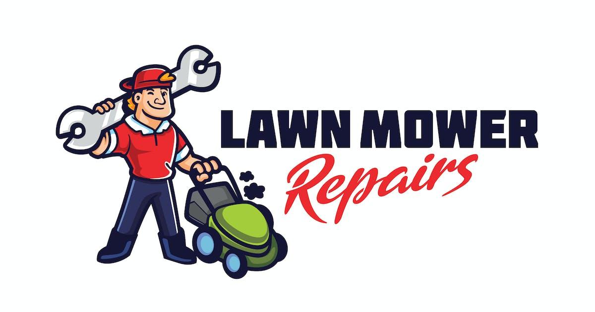 Download Lawn Mower Machine Repair Service Mascot Logo by Suhandi