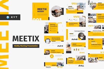 MEETIX - Шаблон основного Keynote для ежемесячных совещаний