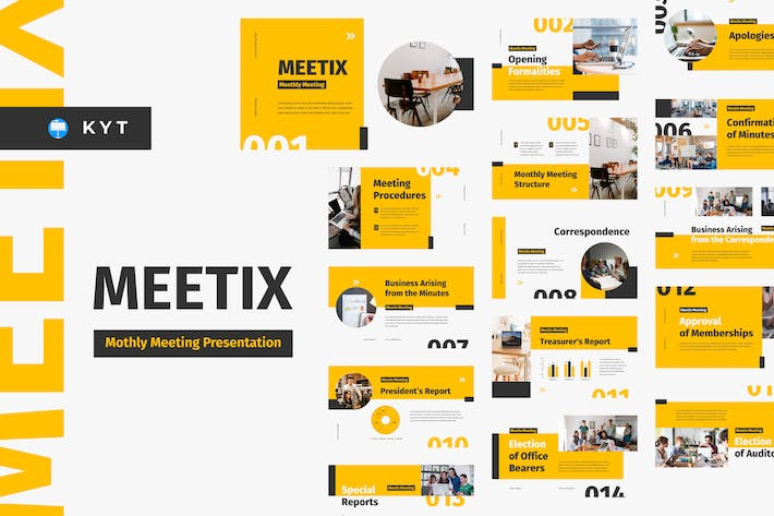 Thumbnail for MEETIX - Monthly Meeting Keynote Template