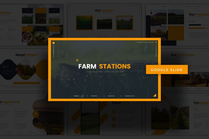 Thumbnail for Farm Stations - Google Slides Template