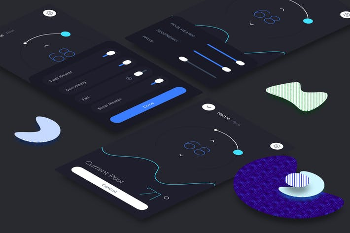 Thumbnail for Smart Home Pool Mobile Ui v.2