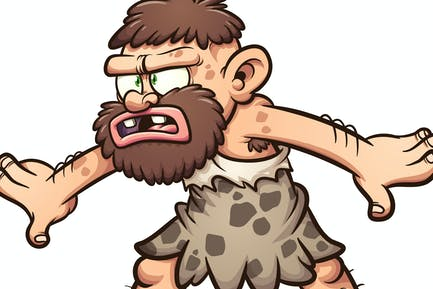 Confused caveman