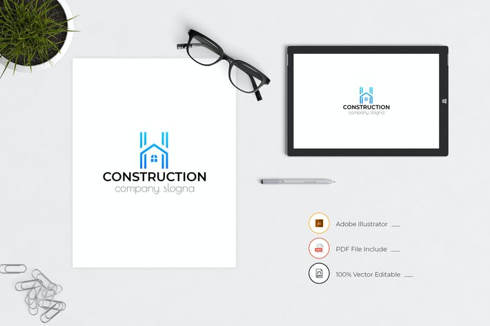 Thumbnail for Construction Business Logo Template