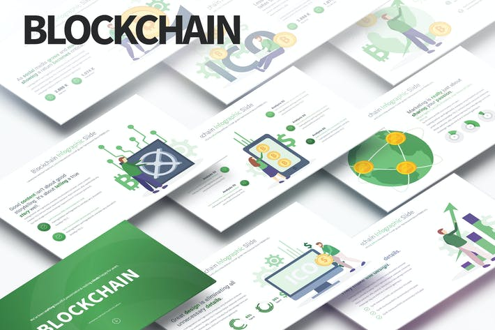 Thumbnail for BLOCKCHAIN - PowerPoint Infographics Slides