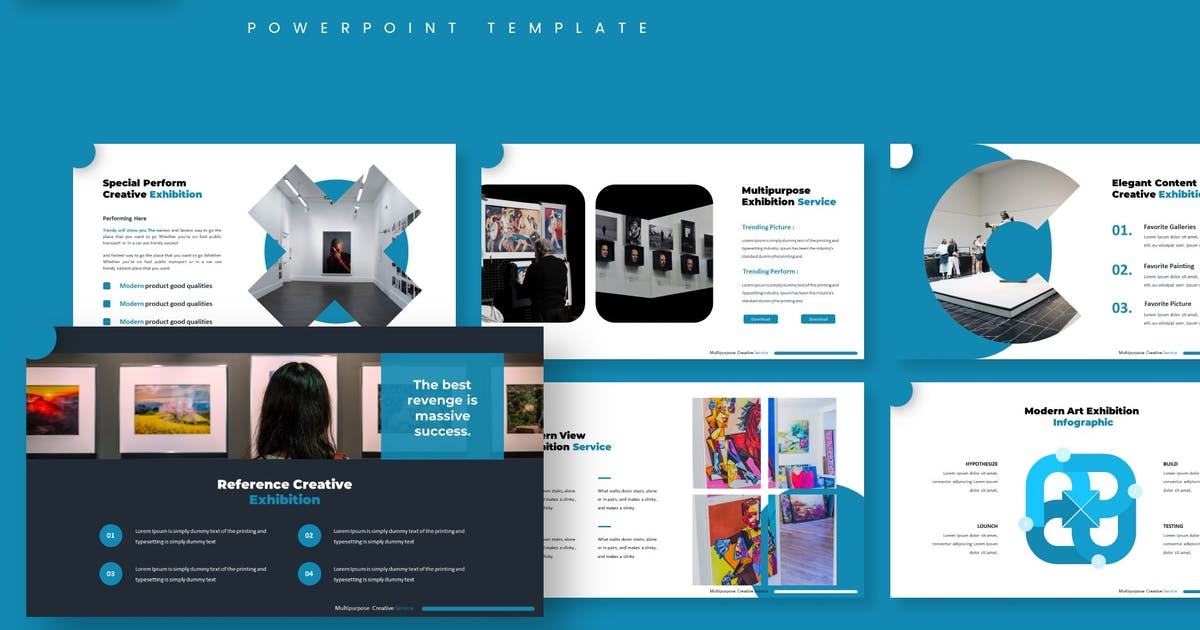 Download Exhibition - Powerpoint Template by aqrstudio