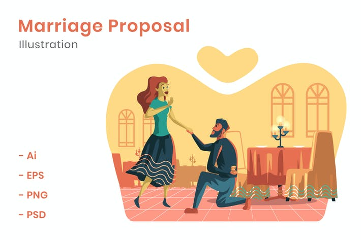 Thumbnail for Marriage Proposal Illustration