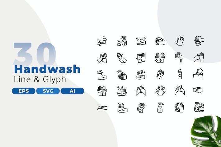 Thumbnail for 30 Händewaschen Icon Pack