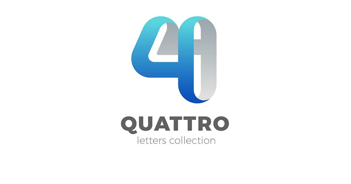 Download Number 4 Four design 3D Ribbon style by Sentavio
