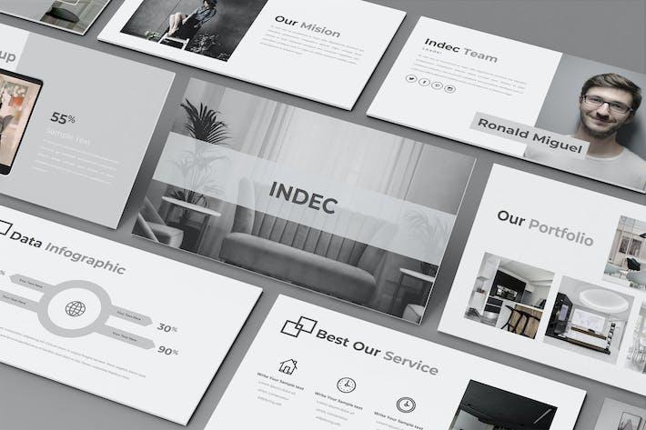Thumbnail for INDEC — Шаблон креативного бизнес-Keynote