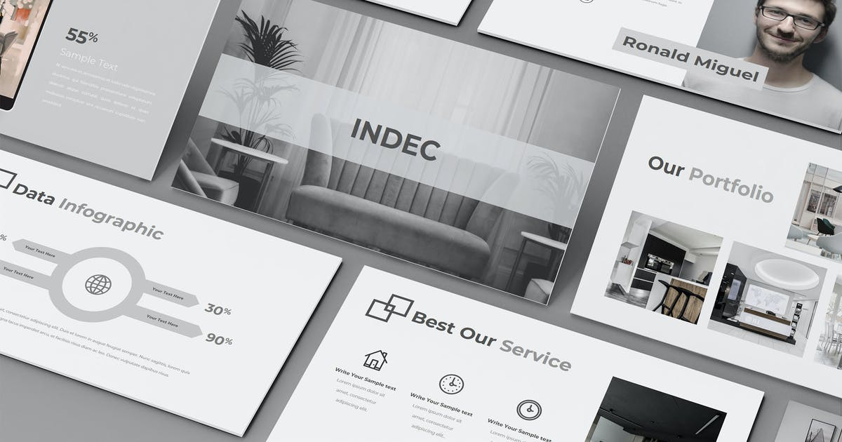 Download INDEC – Creative Business Keynote Template by raseuki