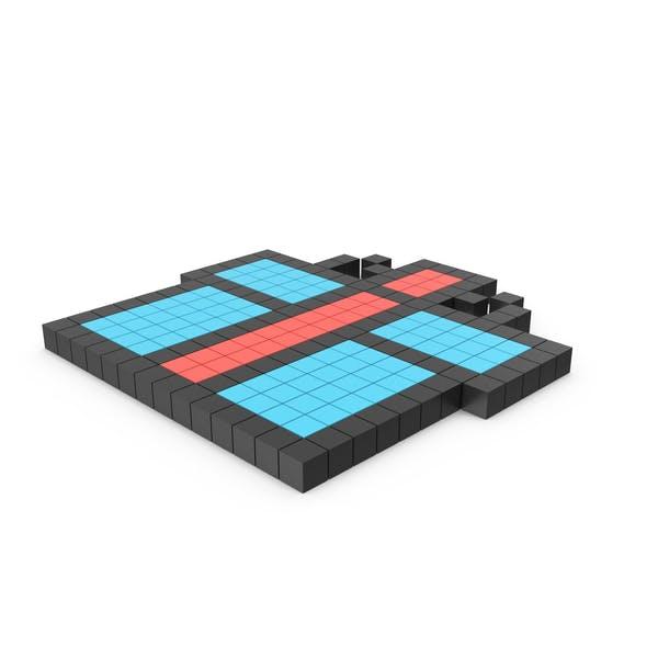 Пиксельный значок подарочной коробки