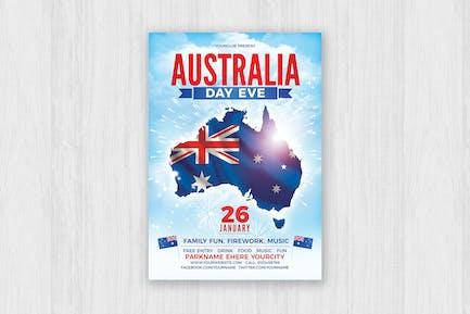 Australia Day Party Flyer
