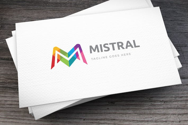 Thumbnail for Mistral Letter M Logo Template