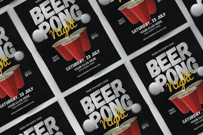 Cover Image For Beer Pong Flyer