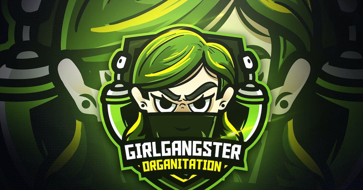 Download Girls Gangster - Mascot & Esport Logo by aqrstudio