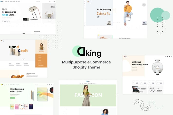 Cover Image For Dking — Multipropósito eCommerce Shopify Tema