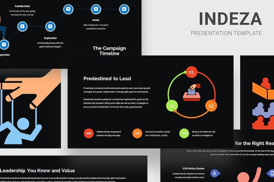 Indeza - Political Infographic Google Slides