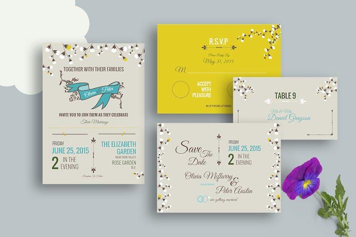 DIY Vintage Wedding Invitation PSD Template by Squirrel92 on Envato ...