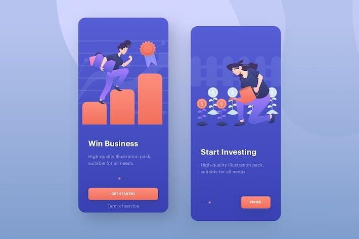 Thumbnail for Start Up Business Illustration - Mobile Onboarding