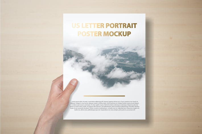 Thumbnail for US Letter Portait Flyer / Letterhead Mockup